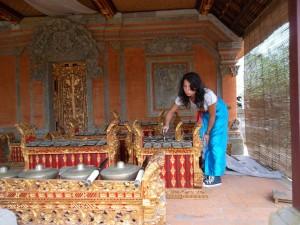 In un tempio a Bali