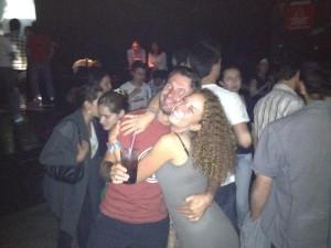 Io e Luca in una discoteca di Quito