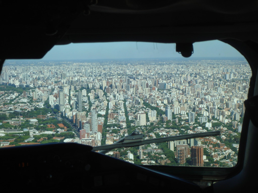 Buenos Aires dal cockpit