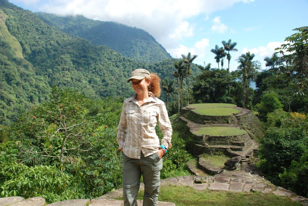 Io alla fine dei miei 5 giorni di trekking in Colombia
