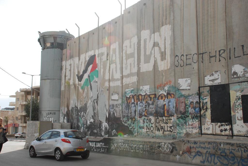 Muro di confine in Palestina