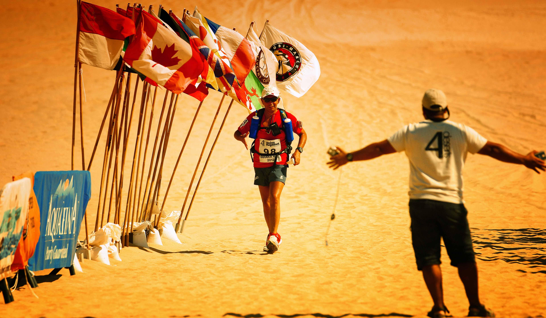 Giuliano Pugolotti: Corre la maratona estrema nel deserto, in solitaria.