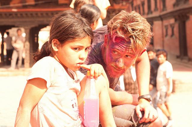 nepal Holi la festa dei colori