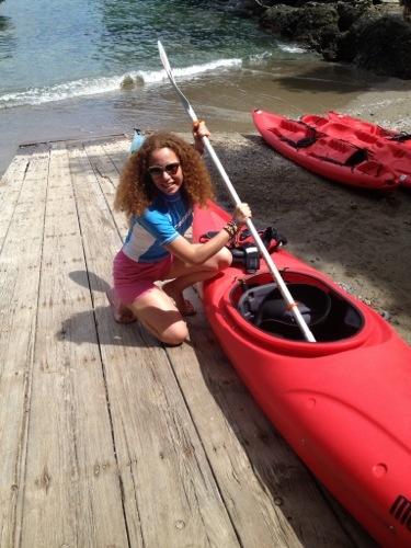 Mi accingo a fare kayak a Portofino