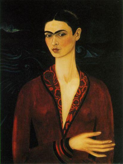 Autoritratto con il vestito di seta