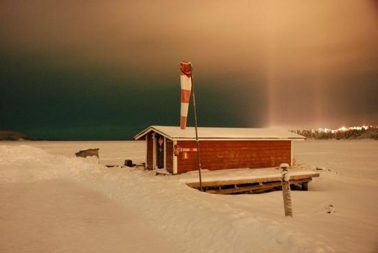 aurora sleeping Finlandia Lapponia