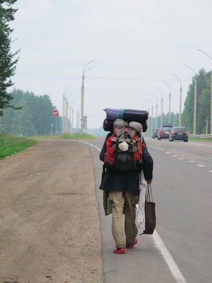 Siberian Walker visto da motociclisti norvegesi che andavano a Magadan