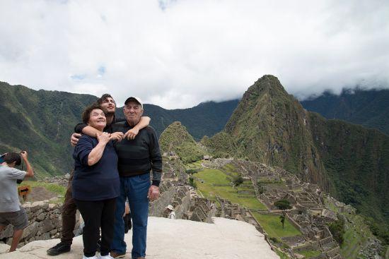 a Maccu Pichu con i nonni