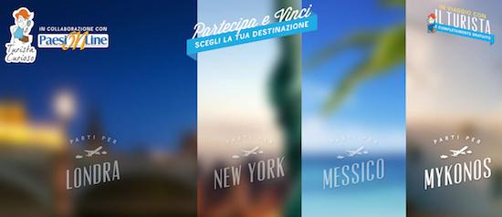 Vinci un viaggio a Londra, NYC, Messico e Mykonos, con il Turista Curioso