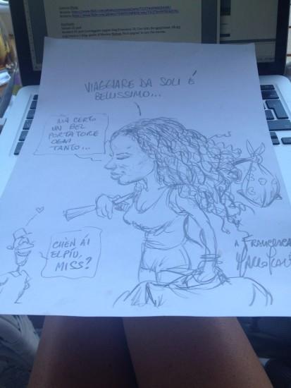 La Vignetta che mi ha fatto Marco