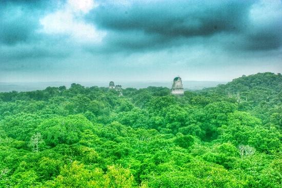 Vista di Tikal - Guatemala