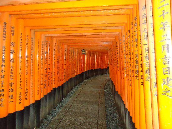 Il tempio di Fushimi Inari a Kyoto,