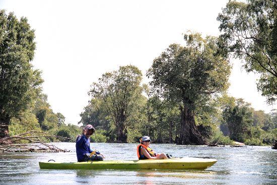 Fare Kayak sul Mekong- Kratie -Cambogia