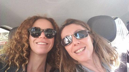 Io e Alessandra in viaggio verso Lecco