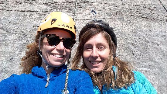 Io e Ale dopo l'arrampicata