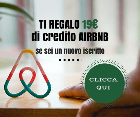 ti regalo 19€ di credito airbnb