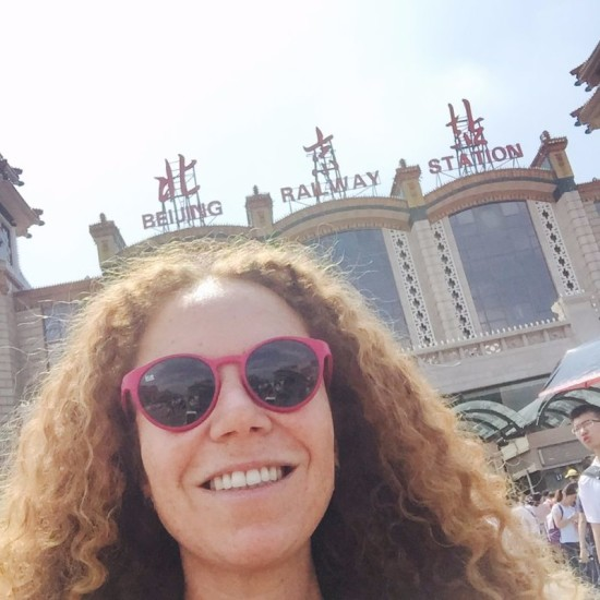 arrivo Stazione dei treni di Pechino