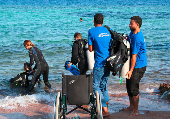 subacquea per disabili