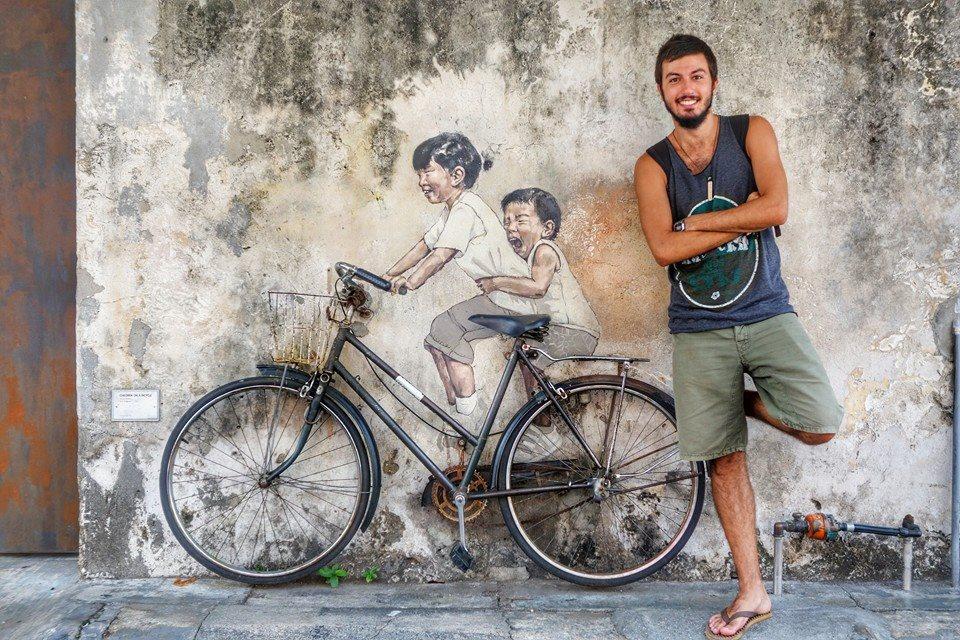 Luca Curti Gialdino da 240 giorni in giro per il mondo, obiettivo: 2 anni