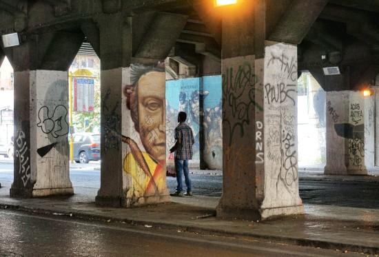 ponte testaccio murales