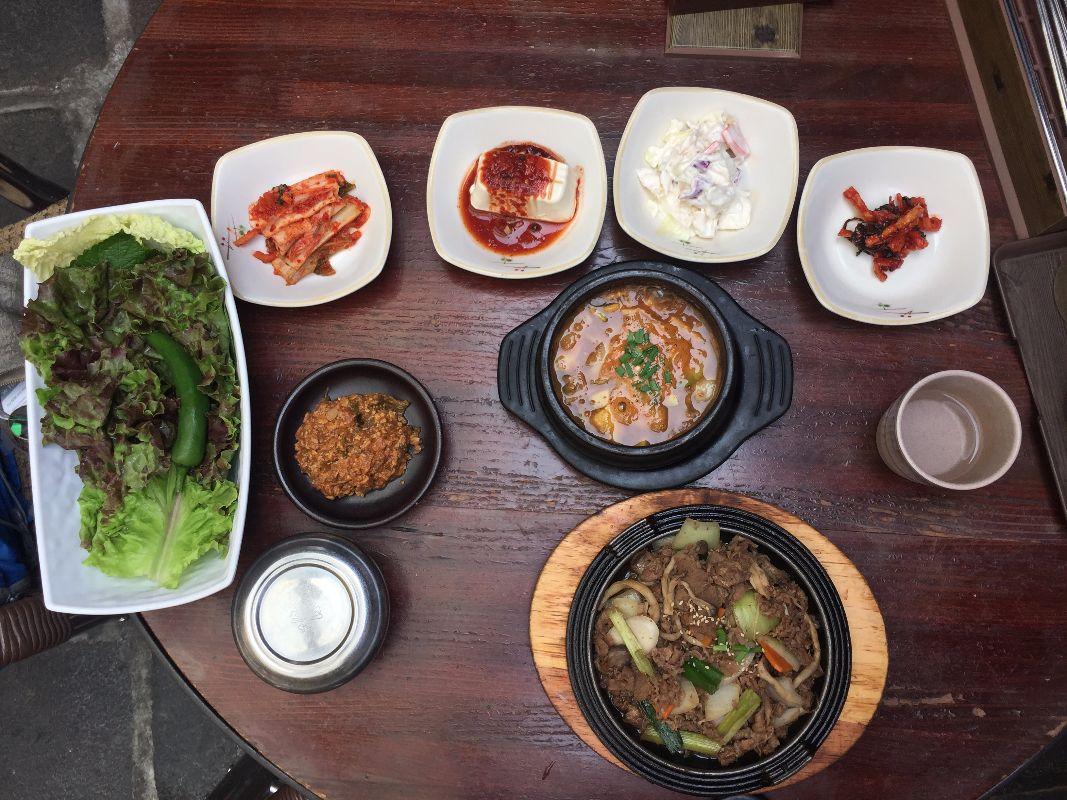 Tipico pasto Coreano