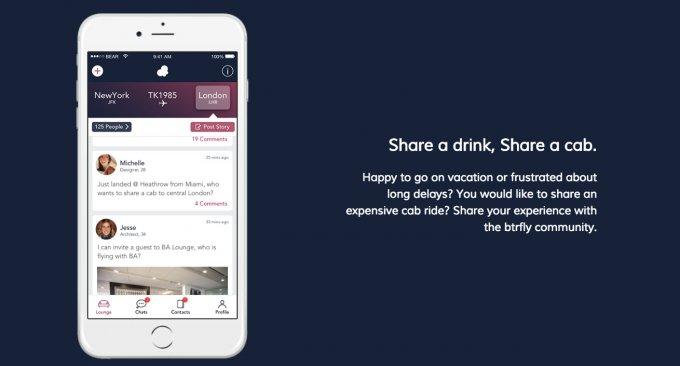BTRFLY: l'app che ti aiuta a fare conoscenze in aeroporto