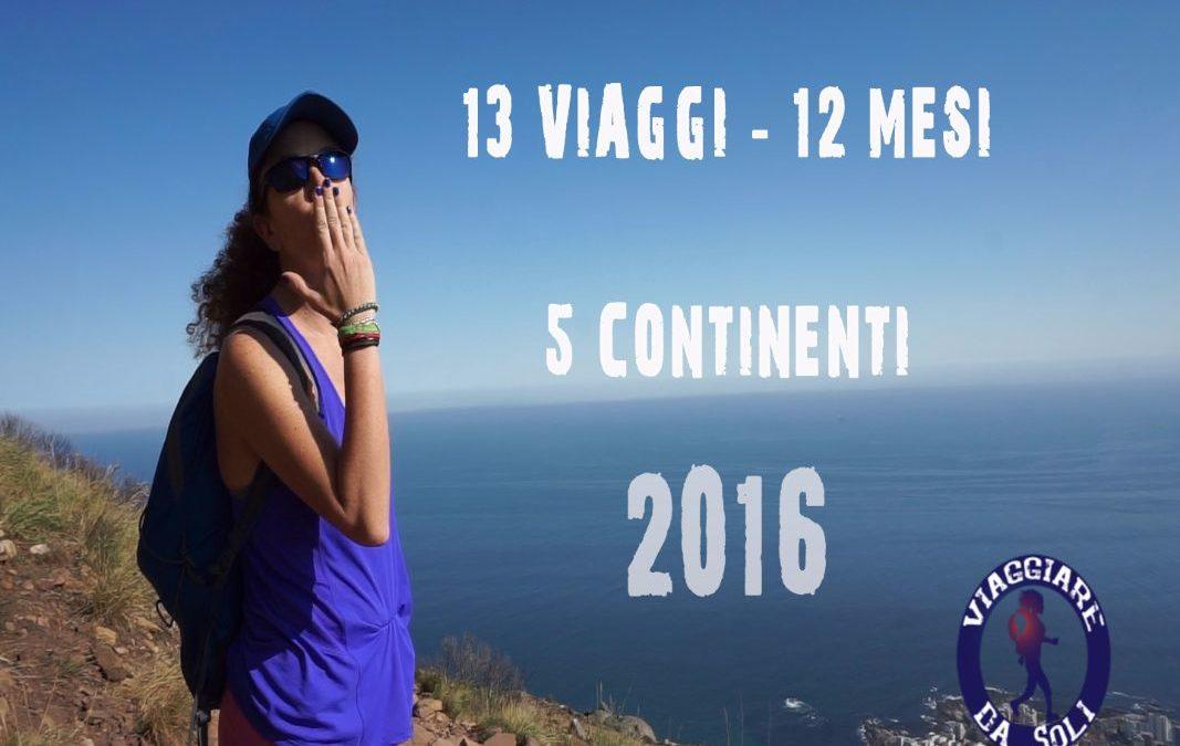 Video di fine anno! 2016 in 13 viaggi su 5 continenti