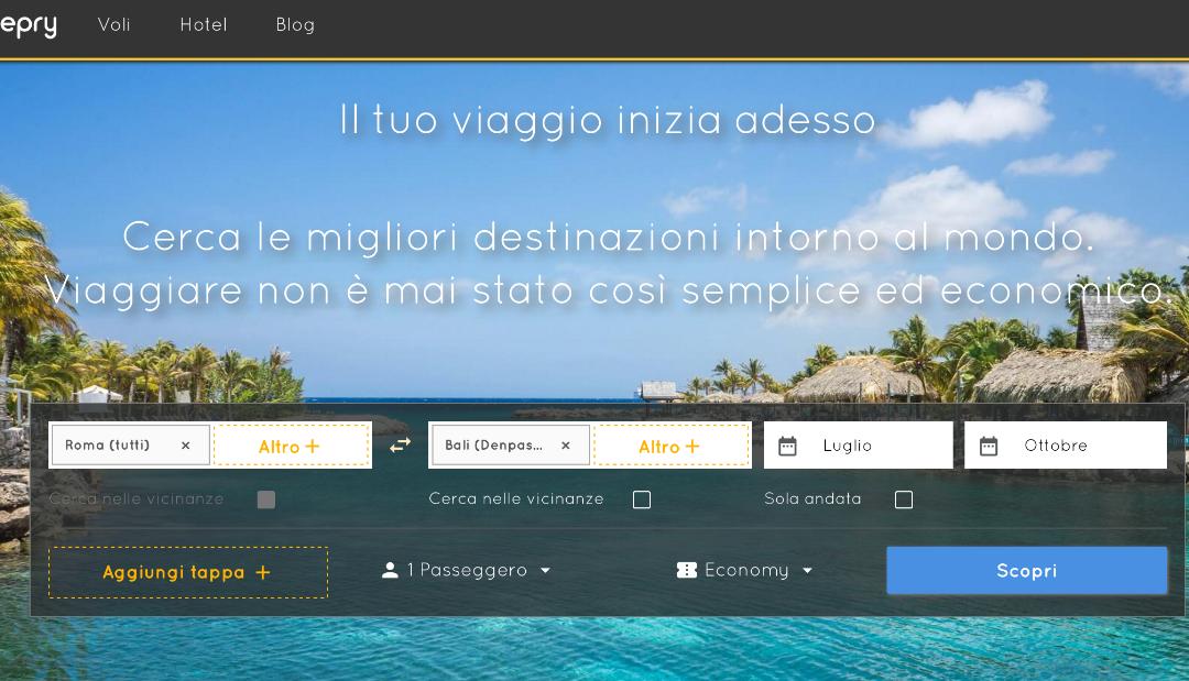 BeePry un nuovo motore di ricerca VOLI: ecco come funziona