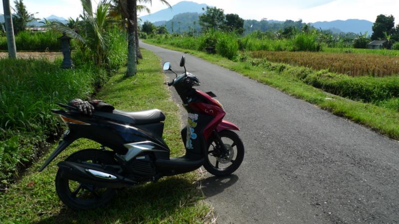 Bali in motorino