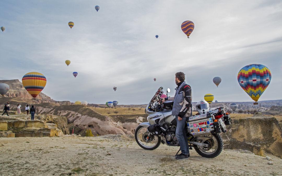 Matteo in viaggio in moto dall'Italia a Bali