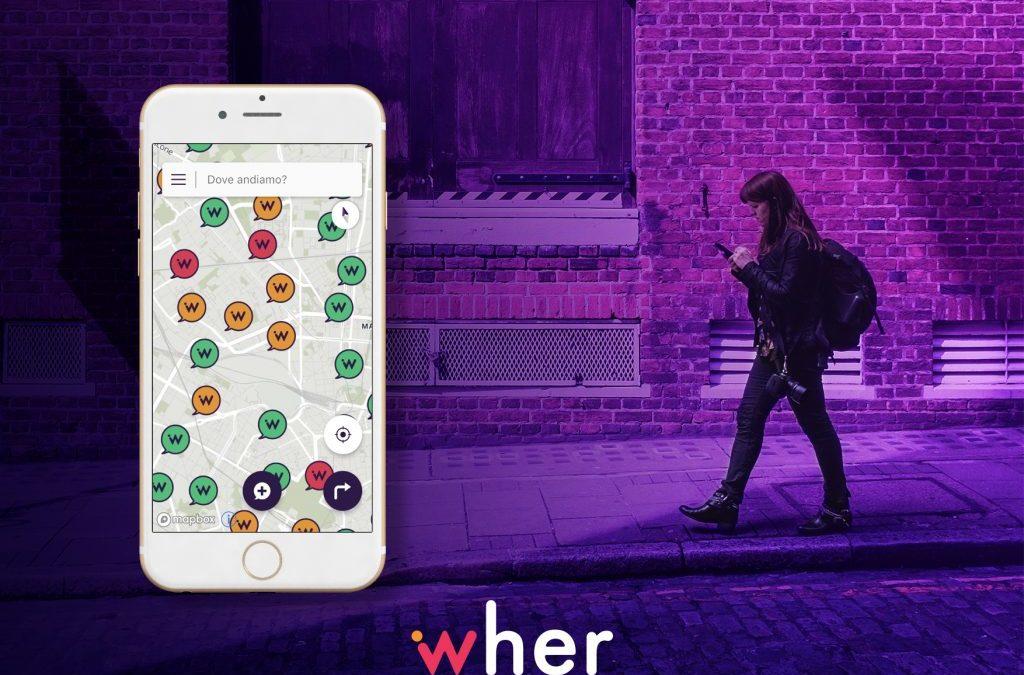 Wher l'app che indica le strade più sicure per le donne